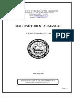 Machine Tools Lab Manual(13-14)