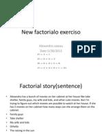 new factorialo exerciso1