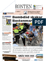 Västfronten 16 April 2013