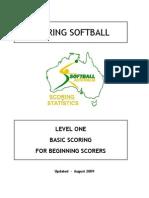 scoring sofbol