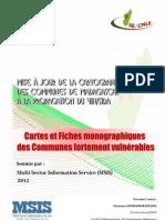 Mise à jour de la cartographie des communes de Mdagascar à la propagation du VIH/SIDA -  (MSIS - 2012)