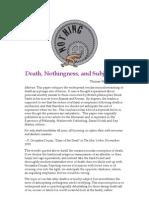 Death, Nothingness, And Subjectivity - Thomas Clark