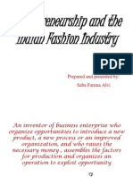 Entrepreneurship and the Indian Fashion Industry