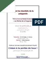 Parmi les bienfaits de la polygamie Tiré du livre de Khaled Al-Jeraissy « Les Mérites de la Polygamie »