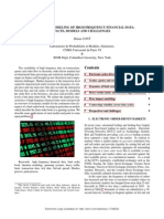STATISTICAL MODELING OF HIGH FREQUENCY FINANCIAL DATA: