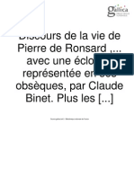 BINET Vie de Ronsard