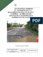 Programa de Manejo Ambiental Pavimentacion