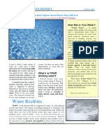 The Wetter Water Report