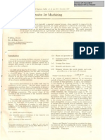 Some Studies on AJM Process