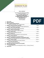 The Tomorrow Plan Steering Committee Agenda | January 2012