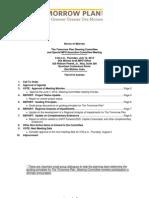 The Tomorrow Plan Steering Committee Agenda | July 2012
