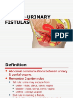 (21) Genito-urinary Fistula