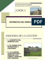 Leccion 1 - Sistematica Del Derecho Civil