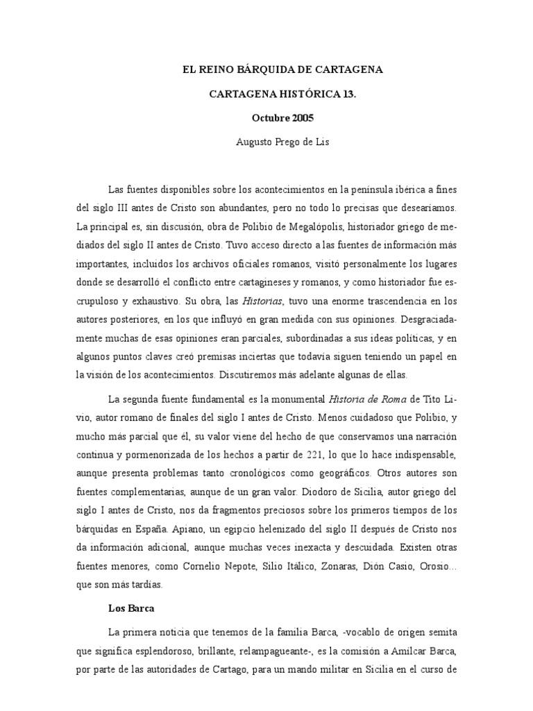 EL REINO BÁRQUIDA DE CARTAGENA