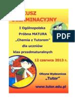 TUTOR Zdzisław Głowacki Chemia 2013 próbna matura poziom rozszerzony