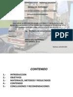 Contaminacion Parque Automotor Ciudad de Huanuco