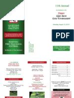 Derby Golf Tournament Brochure 2013
