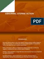 29- Abnormal Uterine Action