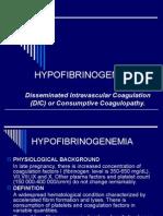 38- Hypofibrinogenaemia