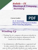 Corporate Law Unit Ix