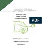 Perfil de Tesis 2013 de Automovil Electrico