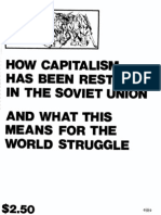 How Capitalism was Restored in the Soviet Union