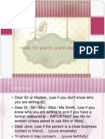 How to Write Good Emails