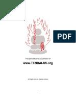 Ritual Meditations - Tendai