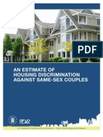 Same-sex housing market discrimination