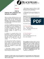 Nigerian Capital Markets Newsletter