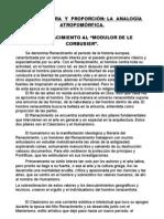 ARQUITECTURA  Y  PROPORCIÓN LA  ANALOGÍA  ATROPOMÓRFICA.