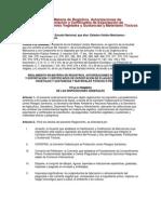 Reglamento Exportacion e Importacion de Material Vegetal y Animal y Plaguicidas Feb 13