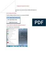 Configuracion Regional de Windows
