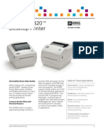 Zebra GC420 Direct Thermal Printer Datasheet