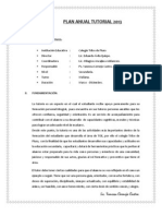 Plan Anual Tutorial 2013