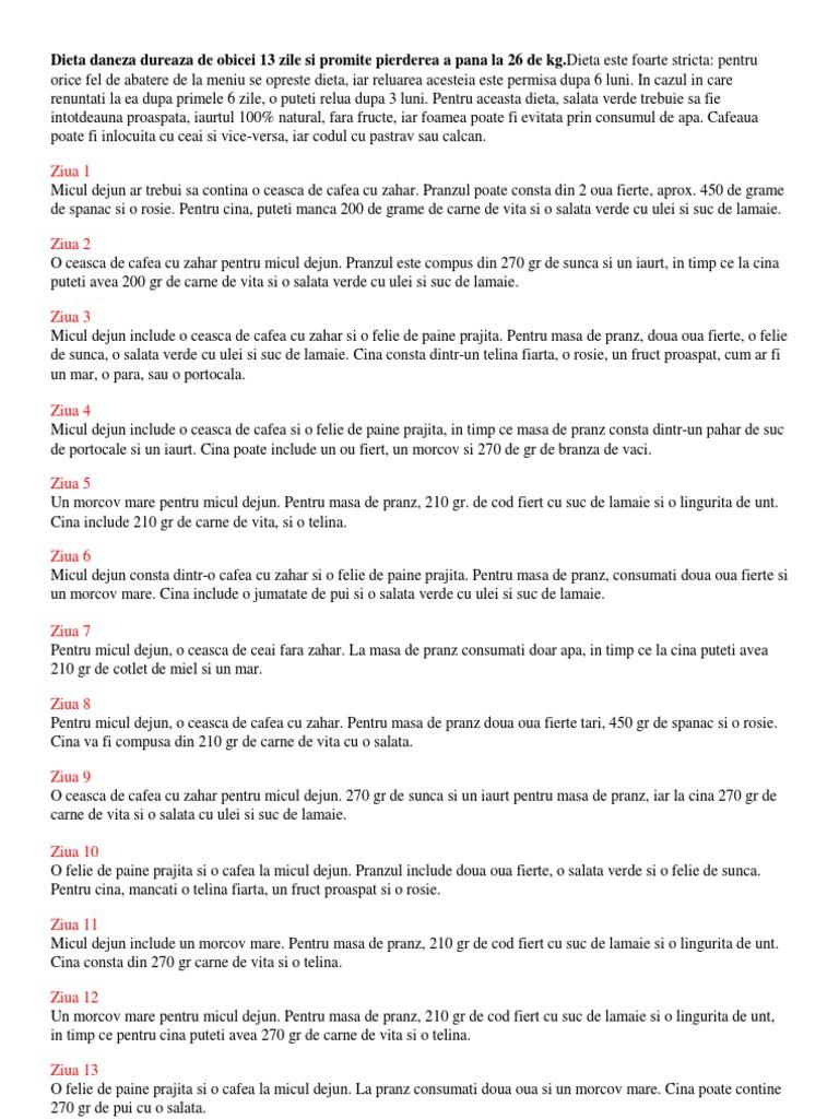 Dieta daneză cu pui – faza de slăbire, plus faza de menținere. Care sunt regulile de bază