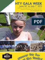 Broughty Ferry Gala Week Booklet  Sunday 30 June - Sunday 7 July 2013