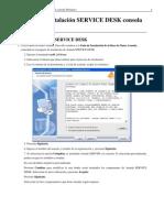 Manual de Instalación SERVICE DESK consola Windows