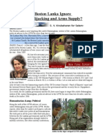 Why Does the Boston Lanka Ignore Kidnapping, Hijacking and Arms Supply