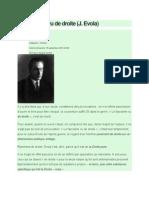 Le Fascisme Vu de Droite - J. Evola