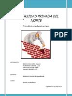 PROCESOS CONSTRUCTIVOS EN ALBAÑILERIA