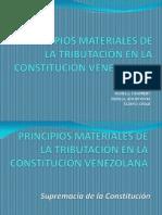 PRINCIPIOS MATERIALES DE LA TRIBUTACIÓN EN LA CONSTITUCIÓN
