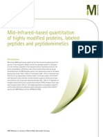 Mid-Infrared-based quantitation of highly modified proteins, labeled peptides and peptidomimetics