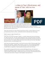 Does Gota have a share in Vaas's blood money and extortions   Paramour of Vaas' wife too was liquidated by Vaas