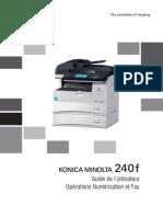 Konica Minolta 240f Ug Scan Fax Operations Fr 1-1-1