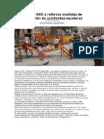 09-06-11 quadratinoaxaca Exhorta SSO a reforzar medidas de prevención de accidentes escolares