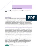 Forrester the Emerging Role of Social Customer Experience in Customer Care