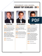 Pennsbury's Top Scholars 2013