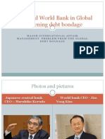 Japan and World Bank Global Debt Bondage