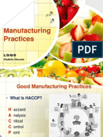 Good Manufacturing practices in food industry